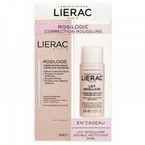 Lierac Rosilogie Correction Rougeurs - Crème neutralisante 40 ml + Lait micellaire 30 ml