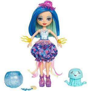 Mattel Enchantimals - Mini-poupée cheveux magiques et Méduse