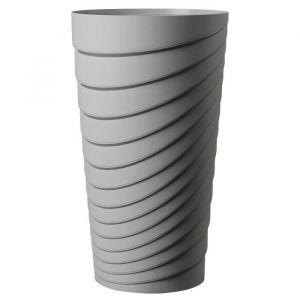 Deroma Pot Alto Slinky - 35x35x60 cm - 42L - Ecume - Plastique injecté - Résistant au gel - Résistant aux UV - Recyclable - Bouchon préformé