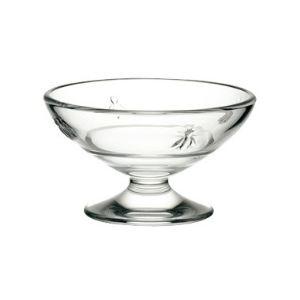 La Rochère 6 coupes à glace Abeille en verre pressé (20 cl)
