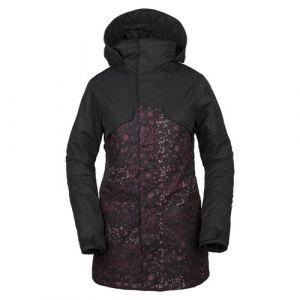 Volcom Vault 3-in-1 Jacket Black Floral Print Noir/rose