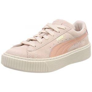 Puma Suede Platform SNK PS, Sneakers Basses Mixte Enfant, Rose (Pearl-Peach Beige), 28 EU