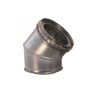 Ten Coude isolé 45° inox316/galva O153-200