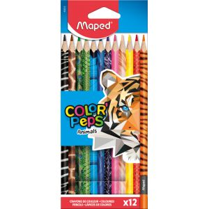 Maped 12 crayons de couleur Animals
