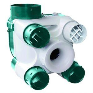Unelvent Kit VMC simple flux autoréglable Deco Sérénité K - 35W - 4 sanitaires