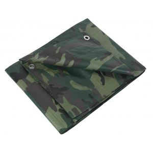 Ribiland PRBC1301,8X3 - Bache de protection camouflage 1,80 x 3 m