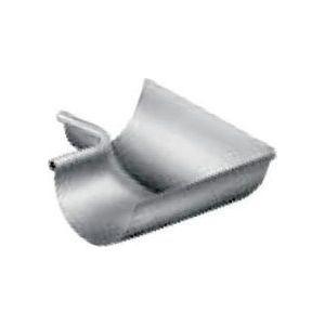 Umicore 220011005 - Equerre gouttière Lyonnaise de 25 zinc naturel intérieur boudin: 18 avec pince