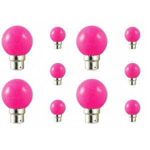 Vision-El Lot de 10 ampoules led B22 pour guirlande lumineuse (7 couleurs d'éclairage) - Couleur eclairage - Rose