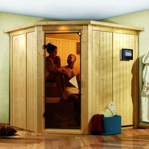 Karibu Siirin - Sauna traditionnel 68 mm pour 3 personnes