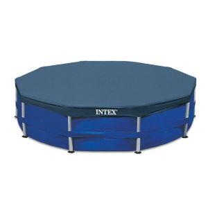 Intex Bâche pour piscine tubulaire ronde Frame - Diam. 488 cm