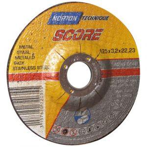 Norton clipper Disque à tronçonner - métal - 125x3.2x22.2 mm - Disque pour meuleuse