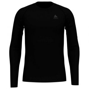 Odlo SUW Active F-Dry Light LS Top Crew Neck Men, black S Maillots de corps