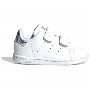 Adidas Stan Smith CF I, Sneakers Basses bébé garçon, Multicolore FTWR White/Core Black Ee8485, 19 EU