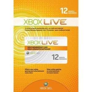 Microsoft Carte Xbox Live Abonnement Gold 12 Mois