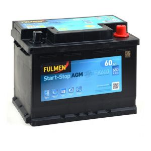 Fulmen Batterie de démarrage 60ah / 680A SMART FORTWO, KIA PICANTO (241FK600)