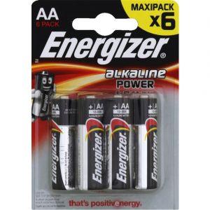 Energizer Piles LR06/AA Alkaline power - Les 4 piles
