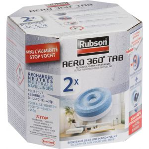 Rubson Recharge absorbeur power tabs - lot de 2