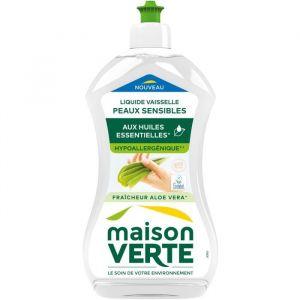 Maison Verte Liquide vaisselle main peaux sensibles Aloé Vera