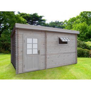 Vogue sauna Sauna d'extérieur vestiaire KAVALIA - 5/6 places - 2 pièces - L423*H230*P280cm