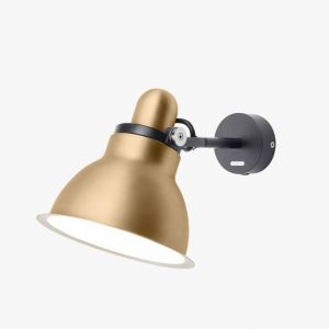 Anglepoise Applique Type 1228 / Metallic noir,or en métal