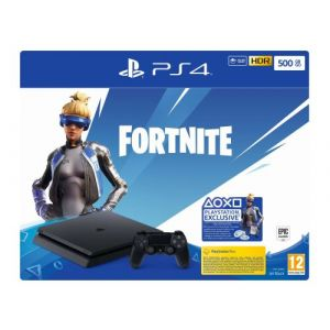 Sony Console PS4 PS4 Slim 500Go Noire + Code Fortnite