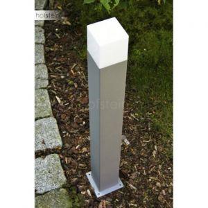 Trio EEC A++ Borne lumineuse extérieure Hudson H80cm - Couleur titane