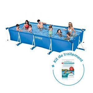 Intex Pack Piscine tubulaire MetalFrame Junior 4,50 x 2,20 x 0,84 m + Traitement pour piscines < 10 m³