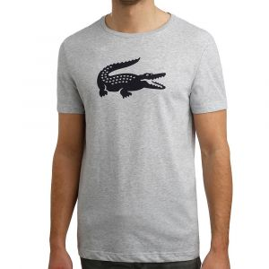 Lacoste Sport TH3377 T-Shirt Homme Argenté (Argent Chiné/Marine Mnc) X-Large (Taille Fabricant:6) Lot de
