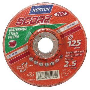 Norton clipper Disque à tronçonner - Score 100 - matériaux - 115x2.5 mm