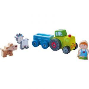 Haba Univers de jeu La ferme : le tracteur de Pierre