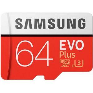 Samsung Carte Micro SD 64Go EVO PLUS+ adaptateur