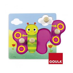 Goula Puzzle en bois 4 pièces : Papillon