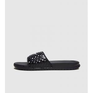 Nike WMNS Benassi JDI, Chaussures de Plage et Piscine Femme, Bright Mango-White-Bright Mango, 41 EU, Multicolore (011 Negro), 39 EU