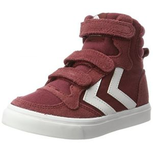 Hummel Baskets basses enfant STADIL CANVAS MONO HIGH JR rouge - Taille 36,37,38,32,33,34,35