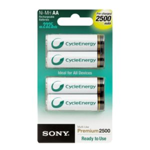 Sony Piles Rechargeables 4X - AA - 2500 mAh