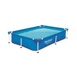 Bestway Kit piscine rectangulaire Splash Jr Frame Pool - 221 x 150 x H 43 cm