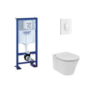 Grohe Pack Rapid SL + Cuvette Aquablade Connect Air + Plaque Blanche