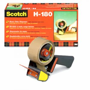 Scotch Dérouleur H180 + 2 rouleaux adhésifs acrylique havane 50x66m