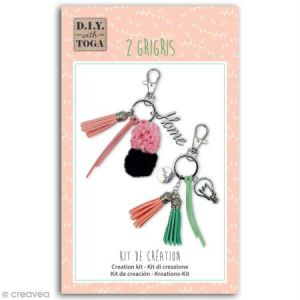 Toga Kit porte-clés grigris - Enjoy the Little Things - 2 pcs