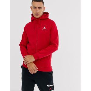 Nike Sweat à capuche entièrement zippé en tissu Fleece Jordan Jumpman pour Homme - Rouge - Taille XS