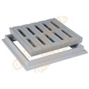 Nicoll grille de sol avec cadre 400x400 sable grc40s
