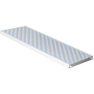 First Plast Grille piéton - piscine PVC anti-choc - gris - 200x500mm -
