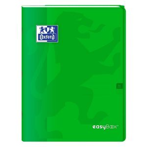 Oxford Cahier Easybook agrafé grands carreaux seyes 24x32 96 pages 90g - vert