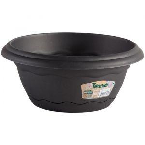 Pot rond a suspendre Ø 30cm avec soucoupe intégrée - Anthracite - En plastique - Forme: ronde - Contenance: 5l - Diamètre: 30cm - Coloris: anthracite.
