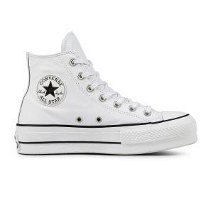 Converse Chuck Taylor CTAS Lift Clean Hi, Sneakers Basses Femme, Blanc Black/White 102, 41 EU