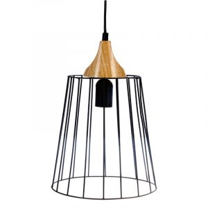 Atmosphera Lampe Suspension Métal 25cm Noir