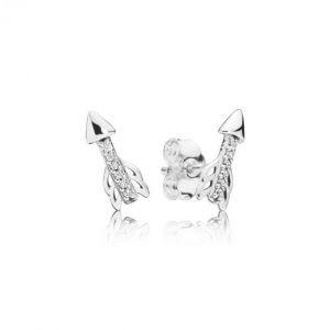 Pandora Boucles d'oreilles Amour 297828CZ - Boucles d'oreilles Flèches Scintillantes Femme