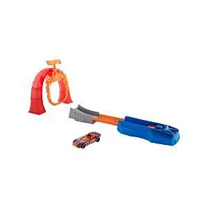 Mattel Hot Wheels - Coffret Piste L'Anneau de Flamme