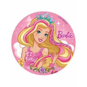 Disque en sucre Barbie 16 cm