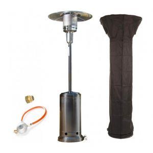 Empasa Parasol Chauffant au Gaz CLASSIC LIGHT - Inclus détendeur Gris Housse noire